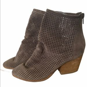 Jeffrey Campbell Jenelle Taupe Suede Booties - 6